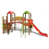 The Hut Playground Complex T902 New (red, green and yellow)