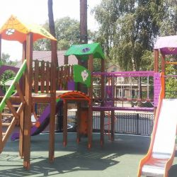 The Castle Playground Complex T903 New (violet, green and yellow