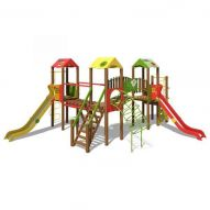 The Castle Playground Complex T903 New (red, green and yellow)