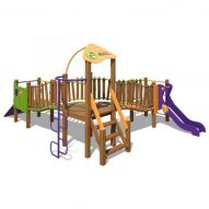 The Wave Playground Complex New TE812 (green, violet and orange)