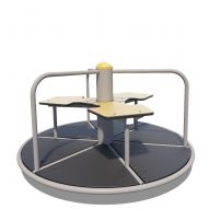 TE244 HDPE Three-seat carousel